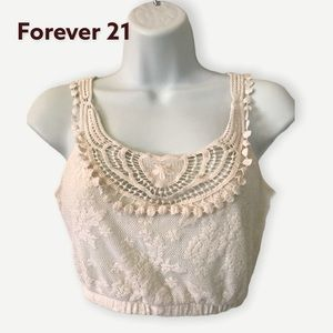 Forever21 lace crop bralette top